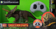 Smithsonian Triceratops Dinosaur Wireless Remote Control Boys Toy-Three Horn