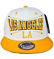 4119c9da87c KB Ethos Mens Boys LA Snapback Caps Baseball Hip Hop Truckers Hats  WhiteYellow
