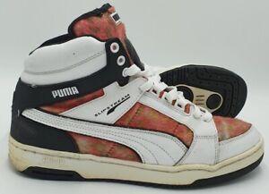 Puma Slip Stream Mid Leather Trainers 355648 01 White/Red/Black UK8/US9/EU42