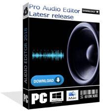 2018 Pro Music Audio WAW Mp3 Recorder Editor Converter Windows Pc/mac Download