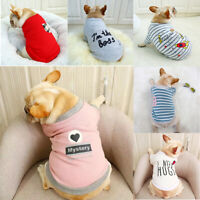 Small Dog Clothes Pet Shirt Cotton Soft Cat Clothing Puppy Vest Apparel Bulldog