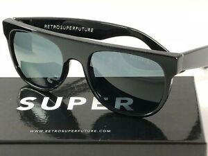 RetroSuperFuture 503 Flat Top Black Polarized Lens Frame Size 52 Sunglasses NIB