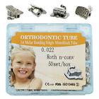 50Sets Dental Orthodontic Monoblock Buccal Tubes 022 1st 2nd Molar MBT Roth Tube