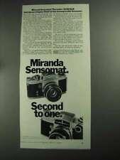 1968 Miranda Sensomat and Sensorex Cameras Ad