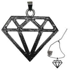 Glitzer Diamant Halskette In schwarz