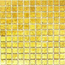 Glasmosaik gold Fliesenspiegel Küche Wand Spritzschutz BAD 120-0742 | 10 Matten