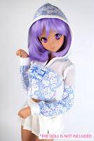 BJD doll 1/3 clothes for Smart Doll/  Dollfie Dream Power mesh hoodie Blue neko