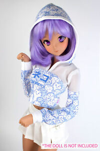 BJD doll 1/3 clothes for Smart Doll/  Dollfie Dream Power mesh hoodie Blue neko