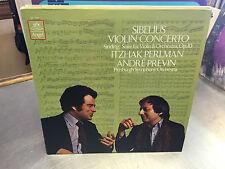 SIBELIUS Violin Concerto vinyl LP Itzhak Perlman Andre Previn NM 1980