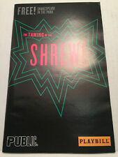 THE TAMING OF THE SHREW! PLAYBILL BOOK OFF BROADWAY NEW YORK 2016