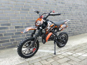 Pocketbike Dirtbike Pocket Cross 49cc Kinder Cross Crossbike KXD 708 Orange