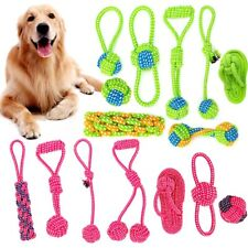 Interactive Cotton Rope Dog Toys Bite-Resistant Pet Puppy Dog Toy Chew Ball Toys