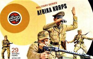 AIRFIX 1970'S VINTAGE GERMAN AFRIKA KORPS 29 FIGURES FULL SET LOT 9 NO BOX.
