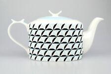 JAMESON&TAILOR Designer-Teekanne, Dekor blaue Rauten, Brillantporzellan, 1,5 l