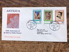 Antigua 1981 FDC, 100Th Anniversary Of Pablo Picasso