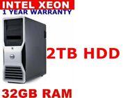 DELL PRECISION T3500 XEON DUAL SCREEN 2TB 32GB RAM 1GB GRAPHIC HDMI WINDOWS 10