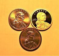 "2013-P-D-S BU SACAGAWEA NATIVE AMERICAN DOLLAR SET (""S"" IS DEEP CAMEO PROOF)"