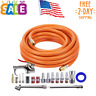 "1/4""X 25FT PVC Air Compressor Hose With 18 Piece Air Tool and Accessory Kit New"