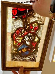 Antique Prussian~1595~ORDER OF THE BLACK EAGLE~SUUM~QUIQUE~Stained Glass Window