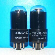 6SL7GT Tung-Sol VT-229 radio amplifier vintage audio vacuum tubes 2 valve tested