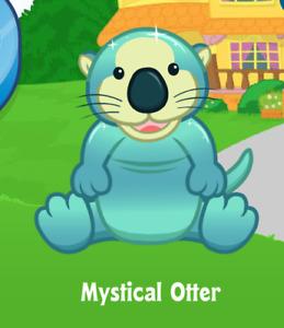 Webkinz Mystical Otter Virtual PET Adoption Code Only Messaged Webkinz Mystical!