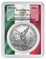 2019 Mexico 1oz Silver Onza Libertad PCGS MS70 - First Strike - Frame Label