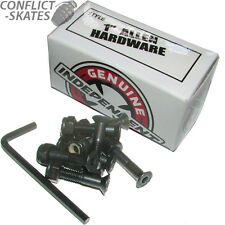 """INDEPENDENT Skateboard Truck Mounting Bolts 1"""" Allen Key x8 BLACK Fixings"""