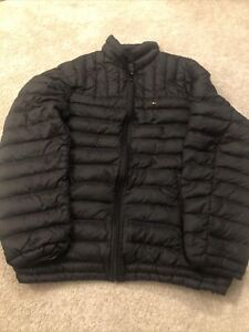 Tommy Hilfiger Natural Down Packable Puffa Jacket Black