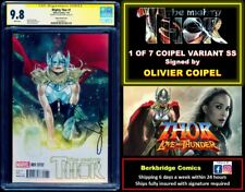 🔥 1 OF 7 MIGHTY THOR #1 CGC 9.8 SS COIPEL 🔥 1st THUNDER GUARD & DARK COUNCIL