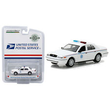 Greenlight 2010 Ford Crown Victoria USPS Police Car White 1:64 29891
