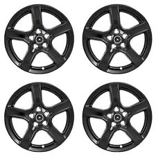 "New Wheel Skins Covers Fits 2016-2018 Chevrolet Camaro 18"" Gloss Black Set of 4"