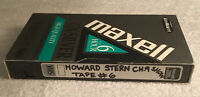 Pre-Recorded VHS Tape of 1990's Howard Stern Show Channel 9 - Sold As Blank Tape