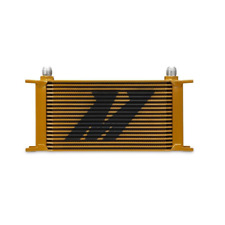 Mishimoto Universal 19 Row Oil Cooler - Gold