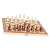 Deluxe 3 In 1 Schach, Dame mit Backgammon Reisespielset Aus Holz, 9,4 X 9,4 Zoll