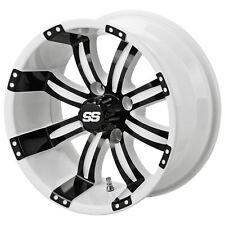 "14"" Casino White/Blk Golf Cart Wheel (Set of 4)"