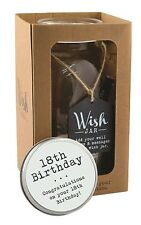 Splosh Glass Wish Jar 18th Birthday Party Guest Wishes & Pen Celebrate Gift Set