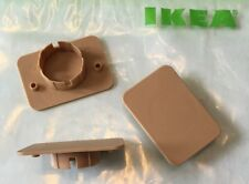 3 x IKEA OXBERG Plastic Door Blanks Cover Hinge Holes (BILLY Bookcase Oak Glass)