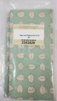 Longaberger Set of 2 Fabric Napkins - Sage Leaf New