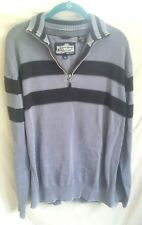 Canterbury of New Zealand Sweater Shirt Rugby Football Blue Grey Cotton