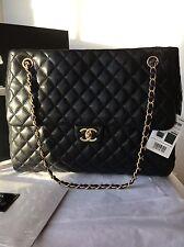 Auth BNIB Chanel Classic CC Fluffy Jumbo Maxi Flap Bag Gst Shopper Tote Lambskin