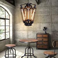Vintage Industry Steampunk Ceiling Lamp Pendant Loft Hanging Retro Light US