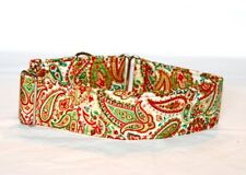 "2""  Martingale Dog Collar Christmas Paisley"