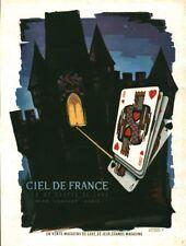 Publicité ancienne ciel de France jeu cartes de luxe issue magazine J. Branger