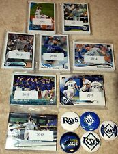 Tampa Bay DEVIL RAYS lot of 8 Topps team sets 2017,2016,2015,2014,2013,2012-2010