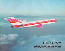 1975 Pacific Southwest Airlines PSA Annual Report Midyear Quarterly Report RARE