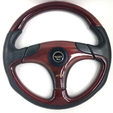 Genuine OBA wood rim and leather 350mm steering wheel. Mercedes, BMW etc.     8D