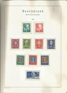 Bund schöne Sammlung 1949-77 bis auf PH komplett sauber **/* - 49-1907
