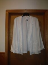 Long Sleeve Open Jacket size 2XL Old Navy color White  Open front NWT