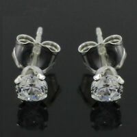 1.50 Ct Round Brilliant Cut Natural Diamond Stud Earrings In 14K White Gold