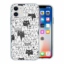 For Apple iPhone 11 Silicone Case Cat Pattern - S230